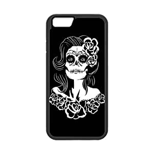 iPhone 6 Protective Case -Sugar Skull Day of the Dead Hardshell Cell Phone Cover Case for New iPhone 6