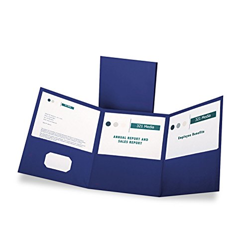 Oxford Tri-Fold Pocket Folders - Letter - 8.5