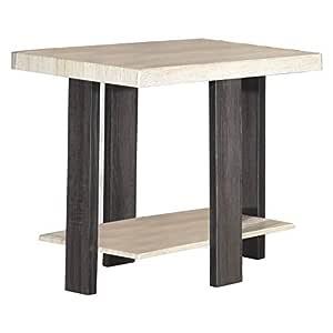 Jiwa Berani Sammi End Table, Light Oak - 60H x 45W x 55D cm
