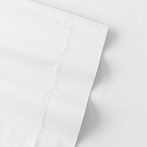 The Big One Percale Sheet Set (Queen, White), 275 Thread Count, 4PC Set, 17