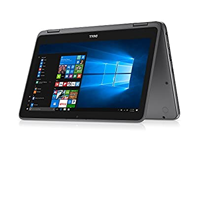 Dell Inspiron 11 3000 2-in-1 Convertible Touchscreen Laptop/Tablet PC, AMD A6-9220e Processor up to 2.4 GHz, 4GB DDR4, 32GB eMMC SSD, Radeon R4 Graphics, WiFi, Webcam, Bluetooth, Windows 10, Gray
