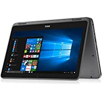 Dell Inspiron 11.6 Touchscreen 2 in 1 Convertible Laptop/Tablet PC, AMD A6-9220e Processor up to 2.4 GHz, 4GB DDR4, 32GB eMMC SSD, Radeon R4 Graphics, WiFi, Webcam, Bluetooth, Windows 10, Gray