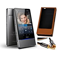 FiiO X7 High Resolution Audio Player (Base Unit) with AM2 Amp Module, FiiO Leather Case for X7 and Extreme Audio Coaxial Audio Cable
