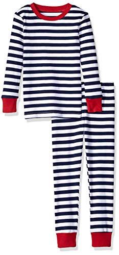 Amazon Essentials Toddler 2-Piece Pajama Set, Navy Stripe, 3T