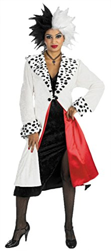 Disguise Womens Disney Deluxe Cruella Devil Prestige Fancy Halloween Costume, One Size (Up To 16)]()