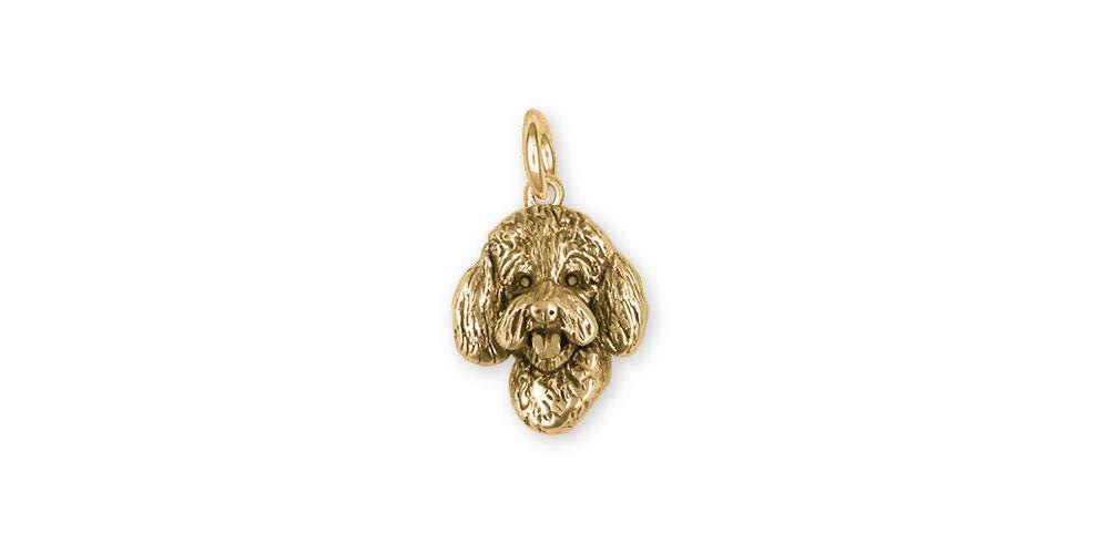 Labradoodle Jewelry 14k Gold Handmade Labradoodle Charm LGDL11-CG