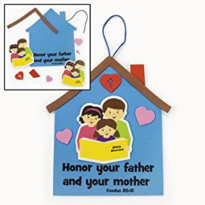 Mom dad sign craft kit religious crafts for Amazon arts and crafts for kids