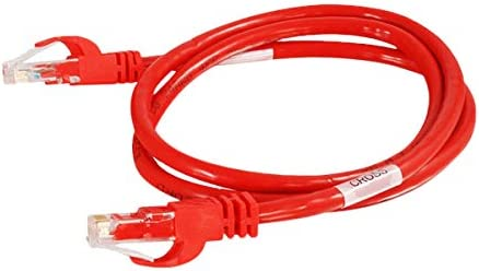 Ethernet Network Patch Cable 5ft Cat6 Snagless Unshielded UTP Red by:Cables Now