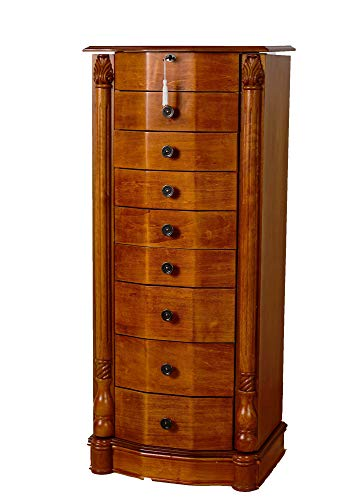 Hives and Honey Hives & Elizabeth 8-Drawer Standing Jewelry Armoire, Honey Oak