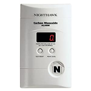 Kidde Plug-In Carbon Monoxide Alarm with Digital Display and 9-Volt Backup
