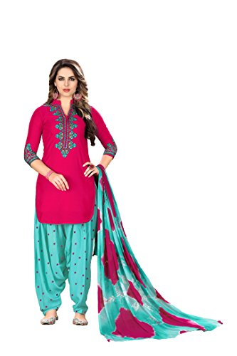 Lilots Patiala Salwar Embroidered Cotton Suit Indian Attire Indian Women's Traditional (Choli Suit)