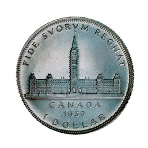 Ottawa Canada Rare Second Silver Dollar 1939 Canada Parliament King George Commemorative Dollar Fide Suorum Regnat Ottawa Canada Parlaiment