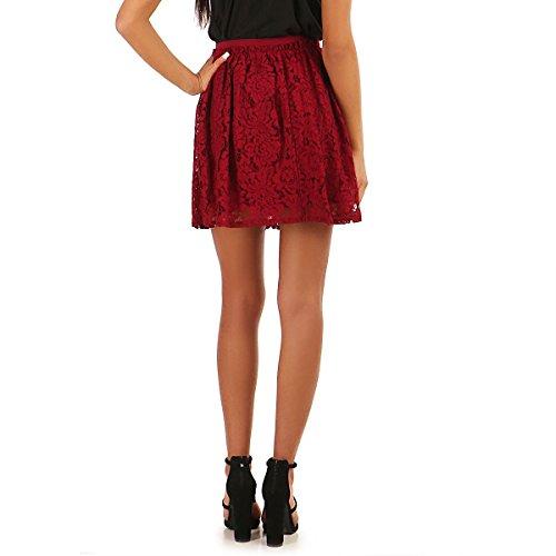 Modeuse Rojo Falda Mujer La Para nvpO11q