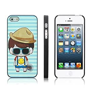 Cool Boy Pattern Case Cover Plastic Carcasa para iPhone 5 & 5S