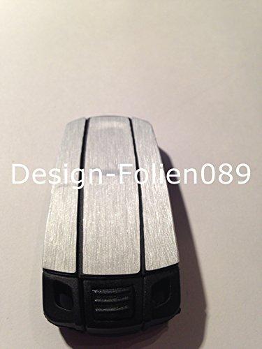 Carbon Folie Film / Dekor Decor Silver Brushed Schlüssel Key BMW 1er, 3er, 5er, X5, X6, E60, E70, E90, E91, E92 E93
