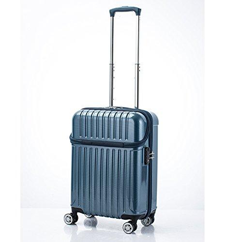 アクタス トップオープン ジッパーハード 33L スーツケース 74-20312 ブルーカーボン [並行輸入品]   B0782Q5CNN