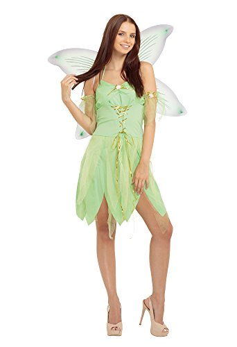 Bristol Novelty AC704 Fairy Costume, Green, Size 10-14 -