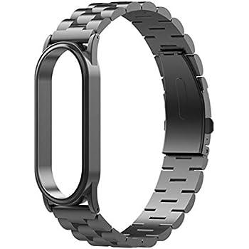 Amazon.com: Correa de repuesto para Xiaomi Band 4 de acero ...