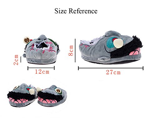YOUJIA Pantoufle Indoor Taille 36 Halloween Chaud Adulte en Hiver Cosplay Chaussures Chausson Zombie Peluche animaux 41 Chaussons 8v7rcq8