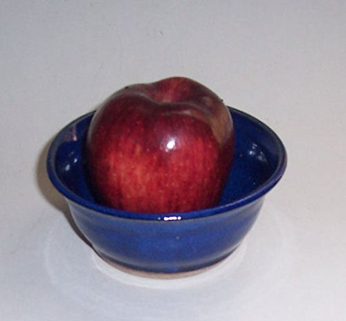 ''ABC Products '' - Hand Made Clay - Apple Baking Bowl - One Of A Kind Design - With A Fast Baking Spike - That Bakes Evenly - (Kobalt Blue Color -Glazed Finish - Made In America) by dist by classyjacs (Image #1)