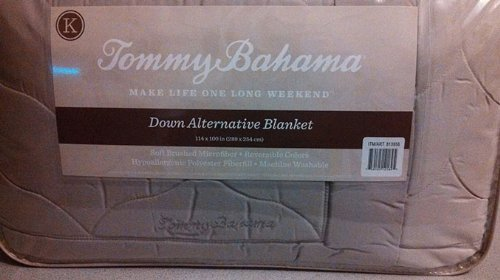 tommy bahama down alternative king size blanket 114 in x 100 in sand amazonca home u0026 kitchen - Costco Down Comforter