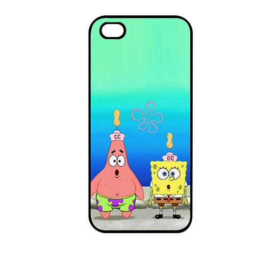 Coque,Phone Case Covers Young Coque iphone SE & Coque iphone 5 & Coque iphone 5S Casing Cover(SpongeBob Squarepants Funny Quotes)