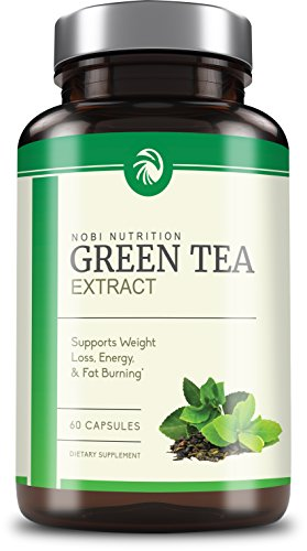 Nobi Nutrition's Green Tea Extract Supplement with EGCG for Weight Loss - Metabolism Boost and Heart Health - Caffeine Boost & Energy Supplement - All Natural (Egcg Green Tea)