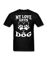 Hocoo Baby Boys Girls Soft Shirt Love gets The Dog T-Shirt