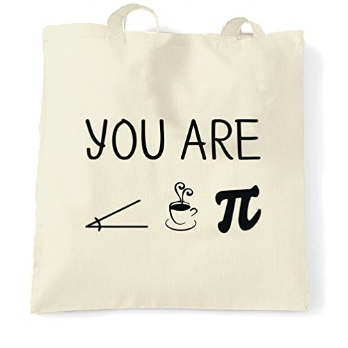 Funny Nerdy Tote Bag You Are Acute Tea Pie A Cutie Pun Natural One Size