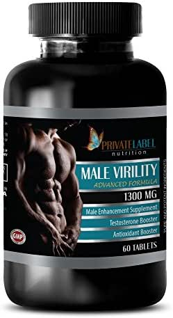 Libido enhancer for men - MALE VIRILITY 1300 Mg - ADVANCED FORMULA - MALE ENHANCEMENT SUPPLEMENT - maca boost - 1 Bottle (60 Tablets)
