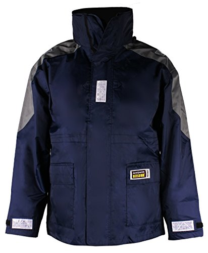 Fishing Waterproof Jacket Sailing Foul Weather Rain Gear Marine Clothes for Men,Blue(S) ()