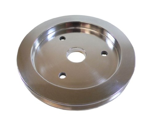 Racer Performance Chevy Big Block Polished Aluminum Crank Pulley - 1 Groove (Short)