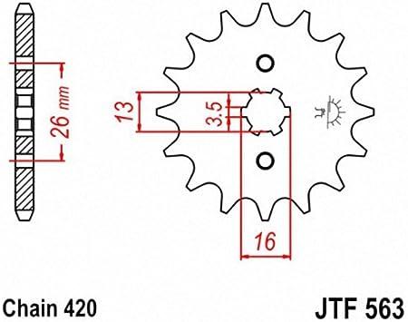 JT Sprockets JTF563.15 15T Steel Front Sprocket