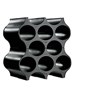 Koziol SET-UP Bottle Rack, Cosmos Black