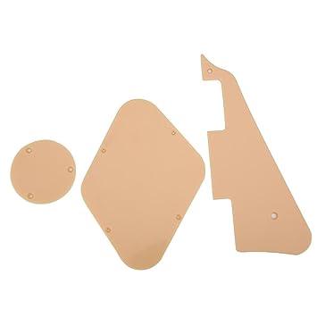Guitarra Pickguard Control & Switch Cavity Plate Set Pick Guard Cover para LP Guitarra Eléctrica,