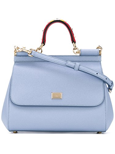 Dolce E Gabbana Women's Bb6002ai3528h422 Light Blue Leather Handbag