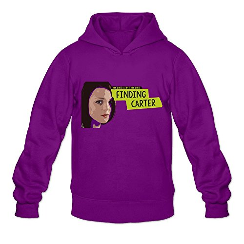 - Men's Finding Carter Kathryn Prescott Hoodie Size XXL Purple