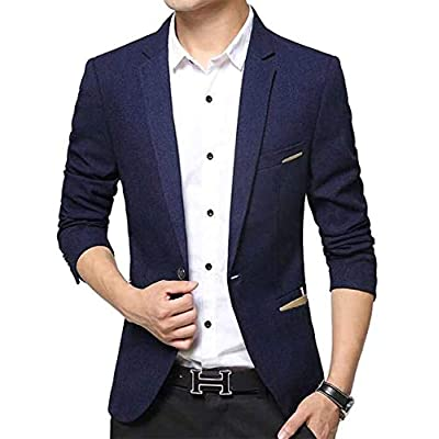 Beninos Men's Casual 1 Button Slim Fit Blazer Suit Jacket Sport Coat at Men's Clothing store