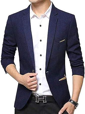 Beninos Mens Casual 1 Button Slim Fit Blazer Suit Jacket Sport Coat