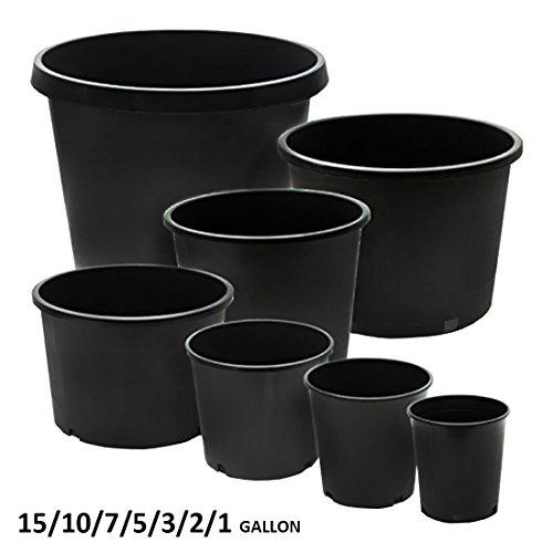 CaliPots 20-Pack 5 Gallon Premium Black Plastic Nursery Plant Container Garden Planter Pots (5 Gallon) by Calipots (Image #6)