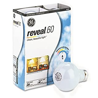 Ge 48688 Reveal Soft White 60 Watts A19, 4-Pack