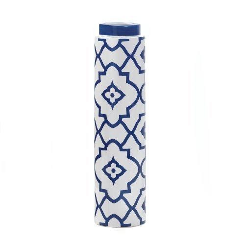 Blue and White Ceramic Patterned Vase (Patterned Vase)