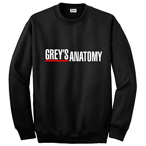 Grey's Anatomy Black Hoodie/Sweatshirt - Different Designs (Black Grey's Anatomy Sweatshirt, Small)