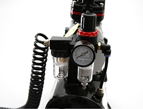 Model Spray Pump Mini Air Compressor Wall Paint Car paint Tool Airbrush with Cylinder 220V by MXBAOHENG (Image #3)
