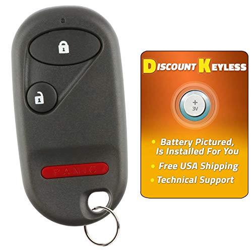 For 02-04 Honda CR-V, 02-05 Honda Civic Si, 05-11 Honda Element Keyless Entry Remote Key Fob 3btn OUCG8D-344H-A, G8D-344H-A