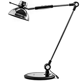 Architect Desk Lamp Gesture Control - OTUS Metal Swing Arm Dimmable Led Lamp - Tall Task Light for Office - 12 Touch Level Dimmer 3 Eye-Care Lighting Modes - Adjustable Drafting Table Lamp - Memory