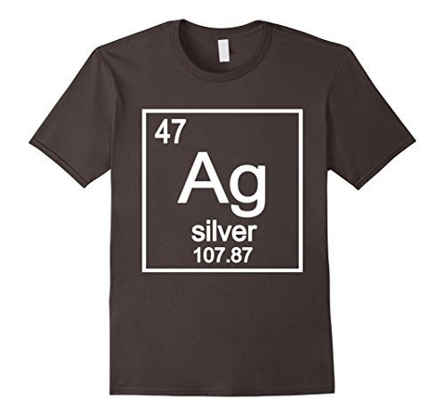 Silver Chemical Element Ag Symbol T Shirt Graphic Tee