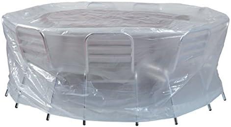Housse de protection pour salon de jardin rond Ø200x80cm