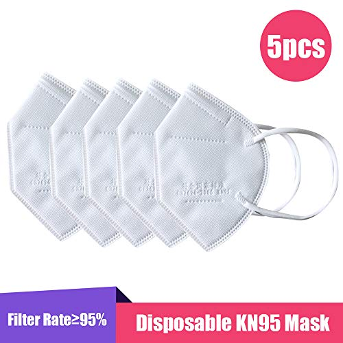 Walmeck- 5PCS KN95 Face Mask Anti PM2.5 Anti Particle Mask Protection Dustproof Mouth Mask Fliters