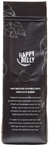 Happy Belly French Roast Organic Fairtrade Coffee, Dark Roast, Whole Bean, 12 ounce